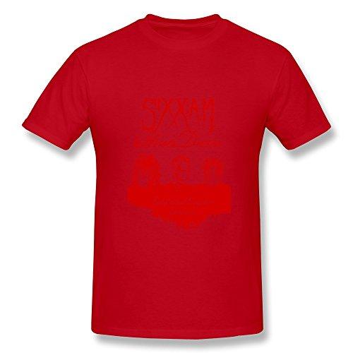 HUBA Men's T Shirt Sixx Am Red Size XS (Vinyl Records Player Bose)