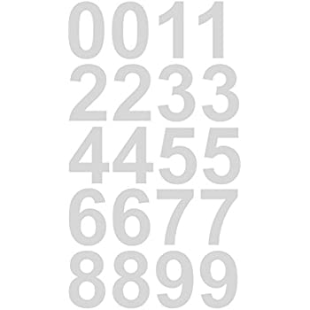 Amazoncom Reflective Sheet Of Inch White Numbers Vinyl - Custom vinyl decals for mailbox