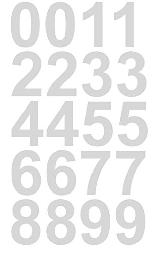 Reflective sheet of 1 1 2 inch white numbers vinyl custom street address