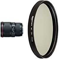 Canon EF 16-35mm f/4L IS USM Lens with Circular Polarizer Lens - 77 mm