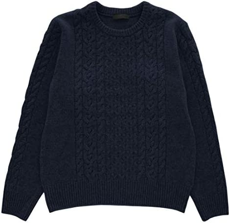 [PRODIGAL(プロディガル)] カシミヤ 100% ケーブル柄 クルーネック セーター メンズ