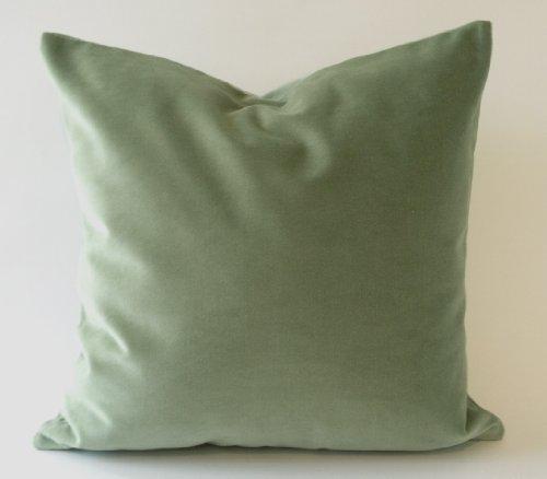 "Nora Quinonez Seafoam Green Cotton Velvet Decorative Throw Pillow Cover – 20""x20 (51×51 cm) -Insert Pillow Insert no…"