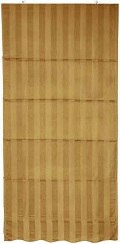Gold 72 in. x 72 in. Oriental Furniture Striped Roman Shades