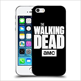Official AMC The Walking Dead Black Logo Soft Gel Case for