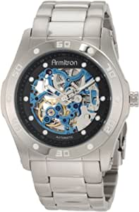 Armitron Men's 204406BISV Automatic Silver-Tone with Black and Blue Accents Dress Watch