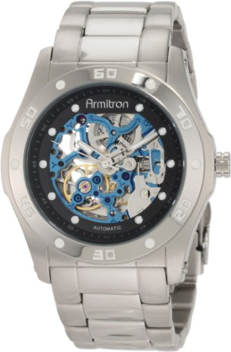 Armitron Men's 204406BISV Automatic Silver-Tone with Blac...