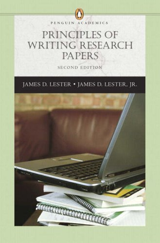 Principles of Writing Research Papers (Penguin Academics Series) (2nd Edition)