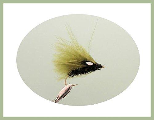 TroutfliesUK Lures Cormorano Trota Mosche, Confezione da 6, Full Olive Cormorano, Taglia 10Fly Fishing
