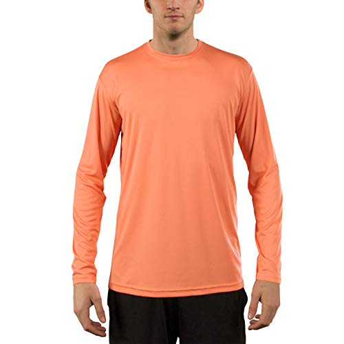 Vapor Apparel Men's UPF 50+ UV Sun Protection Performance Long Sleeve T-Shirt Large Citrus -
