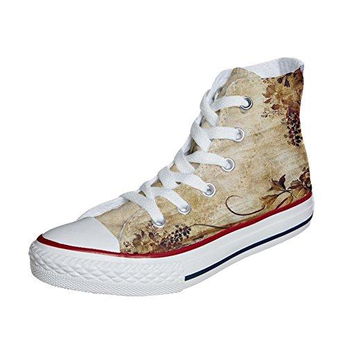 mys Produit Hi Old Handmade Converse All Imprimés Chaussures Unisex et Texture Personnalisé Star rzztnq
