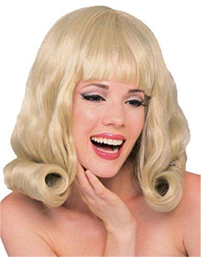 Olivia Newton John Costume (Adult Grease Olivia Newton John Style Blonde Flip Wig)