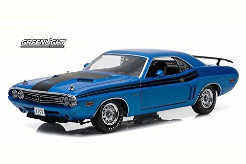 1971 Dodge Challenger R/T Hemi, Blue - Greenlight 12961 - 1/18 Scale Diecast Model Toy Car (1971 Dodge Challenger Diecast compare prices)