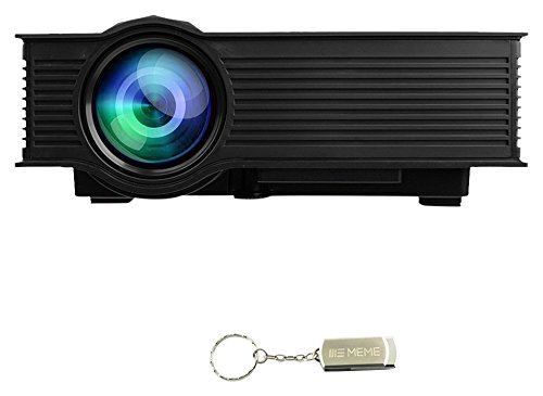 LED Projector, 1080P Mini Portable Multimedia Projector Wireless Display Home Theater, Black