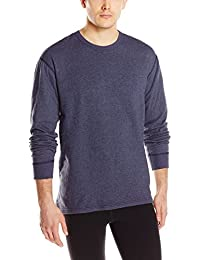 Men's Authentic Dual Layer Long Sleeve Wool Plus Crew Neck Base Layer Top