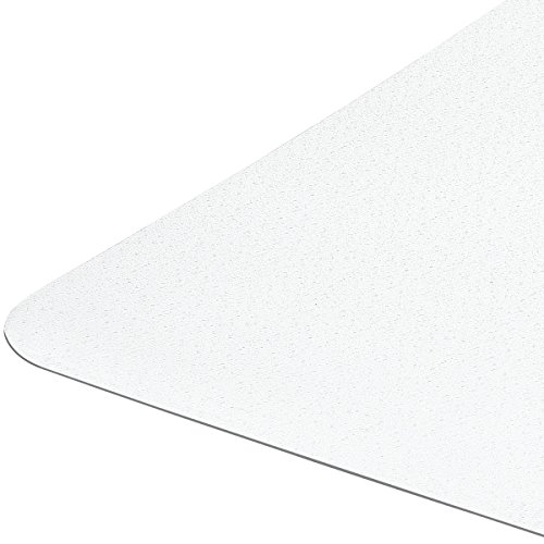 "Firm And Sturdy Chair Mat For Hardwood Floors Non Breakable Polycarbonate Highly Transparent Non Slip Backing Premium Quality Made in Europe Size 36"" X 48"" 1/16"" Rectangular Shipped Flat -  DoubleCheckProducts"