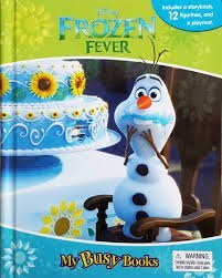 Amazon.com: Disney Frozen Fever My Busy Book With Figurines and ...