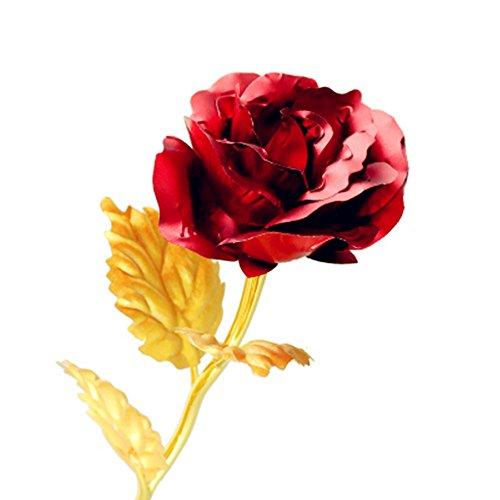 24K Gold Plated Foil Rose Flower With Gift Box For Girlfrien