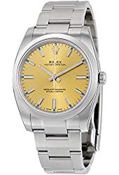Rolex Oyster Perpetual White Grape Dial Stainless Steel Mens Watch 114200WGSO