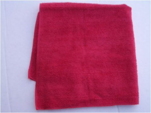 100 Red REAL CLEAN All Purpose Plush Microfiber Bargain Towel by Real Clean