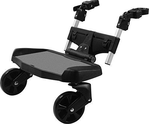 guzzie+Guss Hitch Ride-On Stroller Board, Black - Board Along Ride