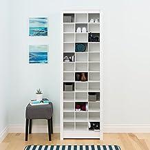 Prepac Space Saving Shoe Storage Cabinet, White