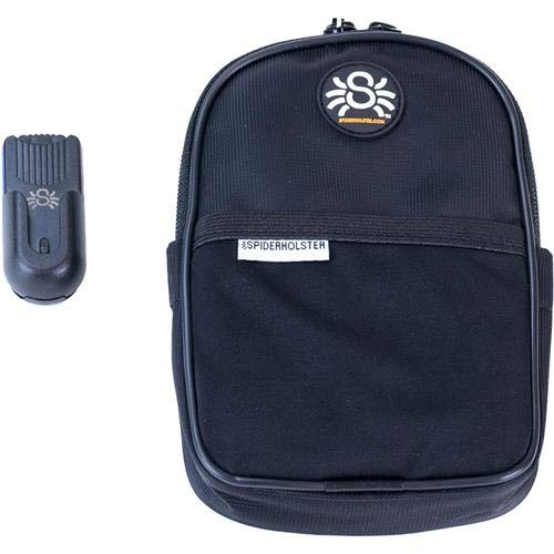 Spider Monkey Front - SpiderHolster Spider Monkey Utility Pouch, Includes Base Clip, Black