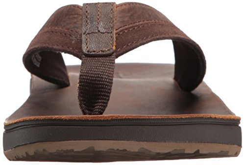 Reef Braun Cho Zehentrenner Herren Cushion Contoured Chocolate Leather qr8OcFqSaC