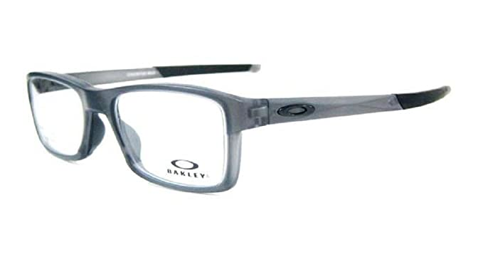 000a9cd384 Oakley Glasses Chamfer MNP Satin Grey Smoke OX8089-0356  Amazon.co.uk   Clothing