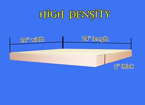 "Upholstery Foam High Density Foam Sheet 2"" x 24"" x 24"" -  Mybecca, HD2x24x24"