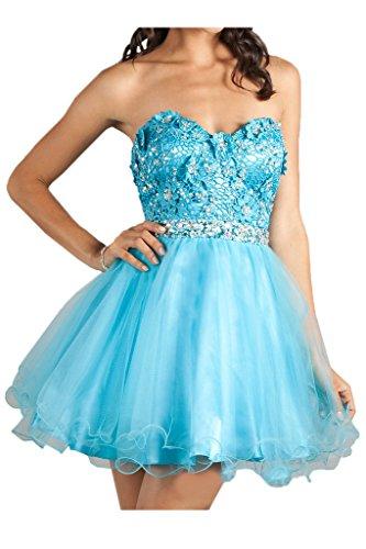 Festkleid Zaertlich Blau Damen Ivydressing Mit Spitze Abendkleider Cockteilkleid Blumen Kurz amp;Tuell T8wpOxq5