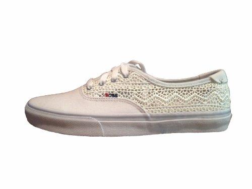 Bobs De Skechers Mujeres The Hombresace Fashion Sneaker Blanco