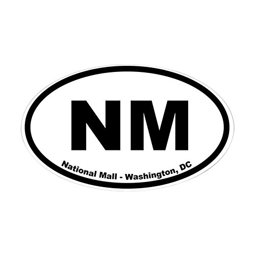 CafePress - National Mall And Memorial Parks Oval Sticker - Oval Bumper Sticker, Euro Oval Car - Memorial Mall