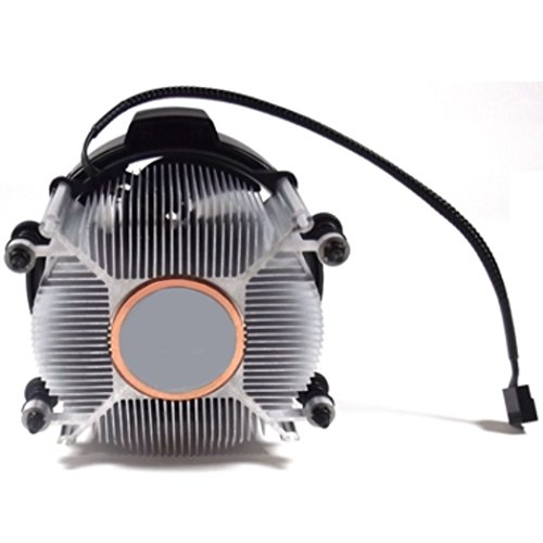 AMD Wraith Spire Socket AM4 4-Pin Connector CPU Cooler With Copper Core Base & Aluminum Heatsink & 3.81-Inch Fan With TronStore Thermal Paste For Desktop PC Computer (TS35) by TronStore (Image #1)