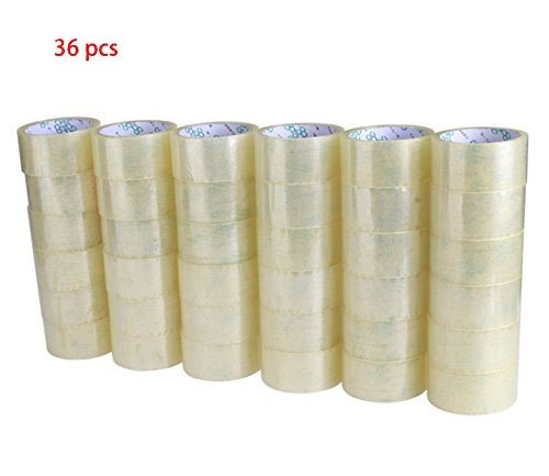 24h Roll - Dtemple Clear Box Carton Heavy Duty Sealing Packing Shipping Tape, 36 Rolls