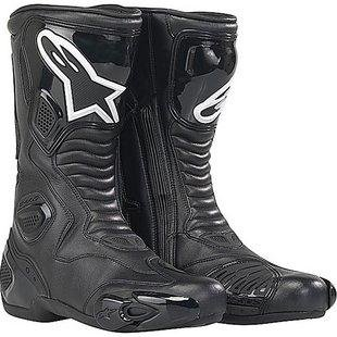 Alpinestars S-MX 5 Waterproof Boots , Distinct Name: Black WP, Gender: Mens/Unisex, Size: 6, Primary Color: Black 2243091039