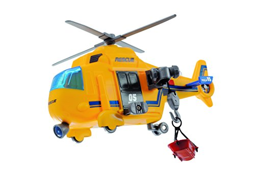 Dickie Toys Mini Action Helicopter Toy, Yellow (Helicopter Rescue Toy)