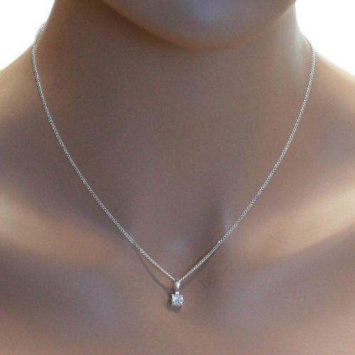 magasin officiel classcic grande vente au rabais In Collections - 241A201651340 - Collier avec pendentif Femme - Argent fin  925/1000 - Zirconium