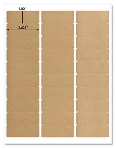 (Textured Brown Kraft Address Labels, 2.625