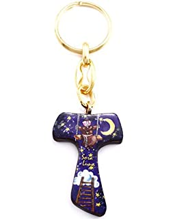 Amazon.com: Hermana Agua Tau Cruz Llavero: Jewelry