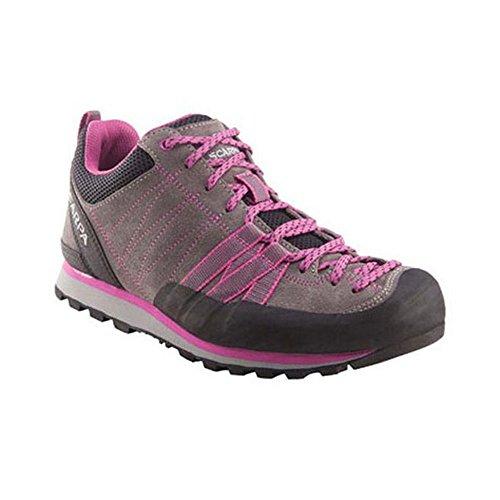 Scarpa Women's Crux Approach Shoe, Mid Grey/Dahlia, 40 EU/8.5 M US (Mountain Approach Shoe)
