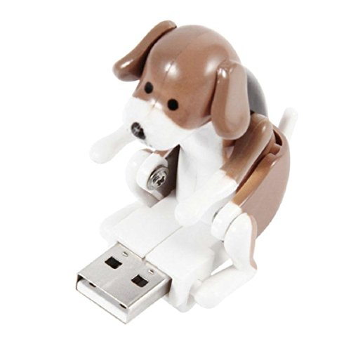 Price comparison product image Naladoo Funny Cute USB Pet Jumping Spot Dog Toy Stress Relief Funny Play Christmas Gift (Brown)
