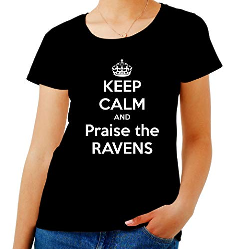 Calm Donna Shirt TKC3211 T Nero And The Ravens Praise Keep H1P4nqnp