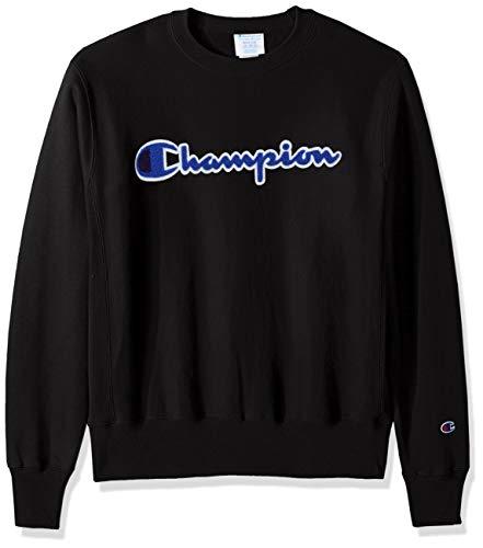 - Champion LIFE Men's Reverse Weave Sweatshirt, Black 2, X-Small