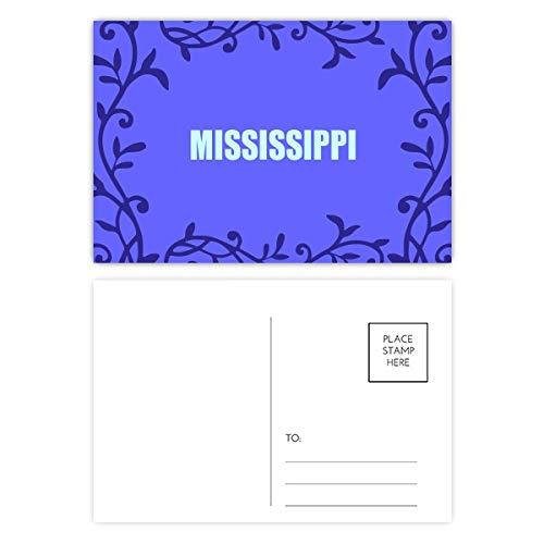 Mississippi America City Postcard Mailing Card Branch Totem (Postcard Mississippi)
