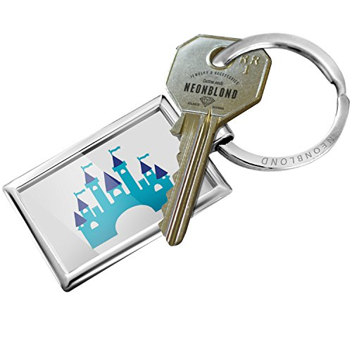 Castle Design Keychain - Keychain Kids Design Blue Castle - NEONBLOND