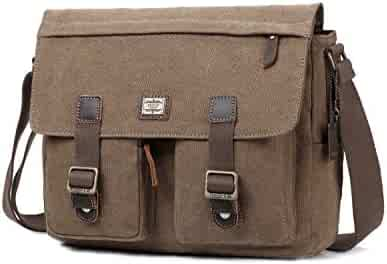 84907e123a Troop London Canvas Messenger Bag Fits Up To 15 Inch Laptop Size Medium  TRP0270 (2