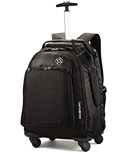 Access Rolling Backpack (Samsonite Luggage Mvs Spinner Backpack, Black, 19 Inch)