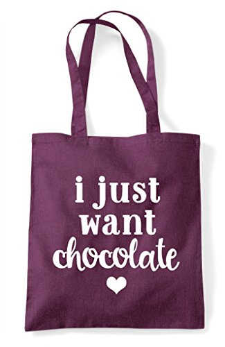 Shopper I Bag Chocolate Tote Just Want Plum Statement fxqYTUf