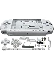 OSTENT Full Housing Shell Faceplate Case Parts Replacement Compatible for Sony PSP 2000 Console Color White