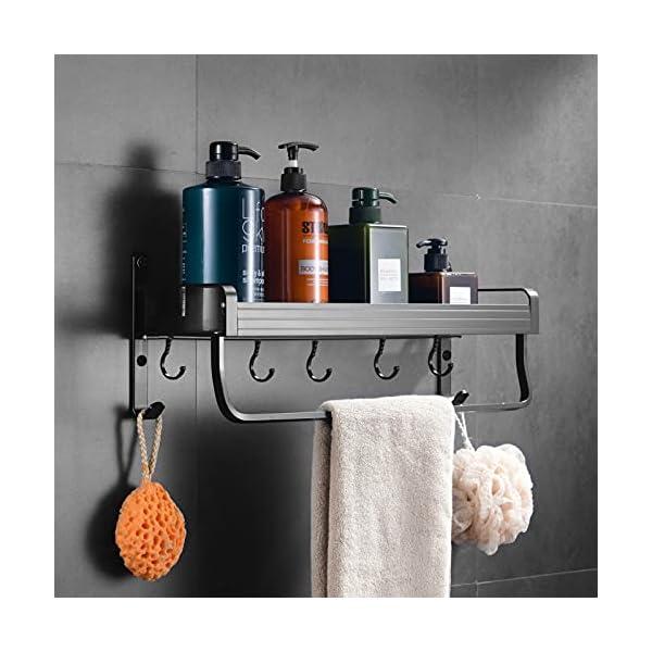 41ACJ%2BcvDuS Geahod Duschregal ohne Bohren, Selbstklebende Duschablage Rostfrei, Dusche Badregal für Badezimmer, Nagelfrei Duschkorb…